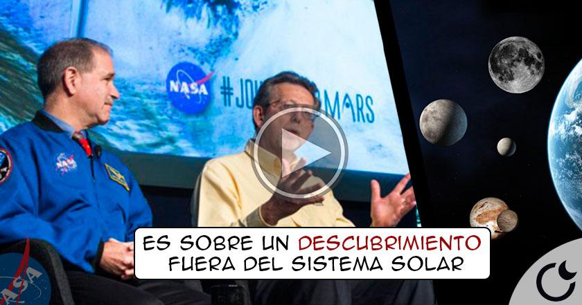 Esta noche NASA dará un comunicado oficial sobre un increíble descubrimiento.