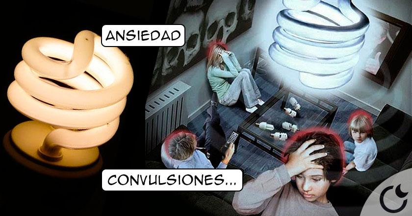 La muerte sobre tu cabeza: las Bombillas de bajo consumo.