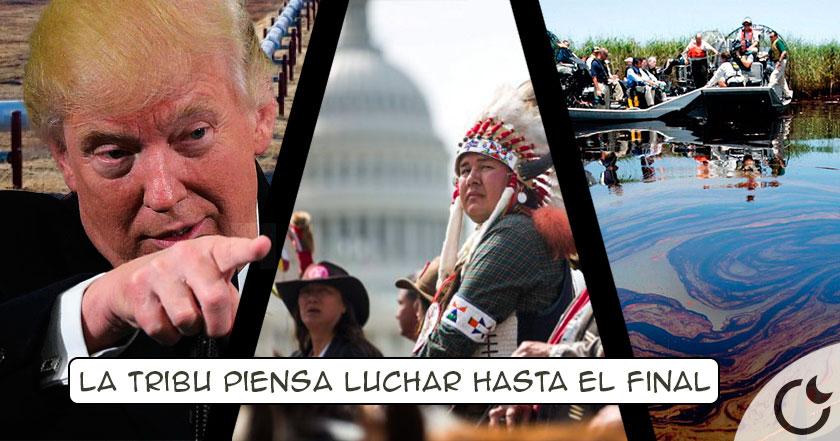 Trump APRUEBA oleoducto que CONTAMINARÁ aguas y tierras SAGRADAS: La tribu Sioux EXPLOTA