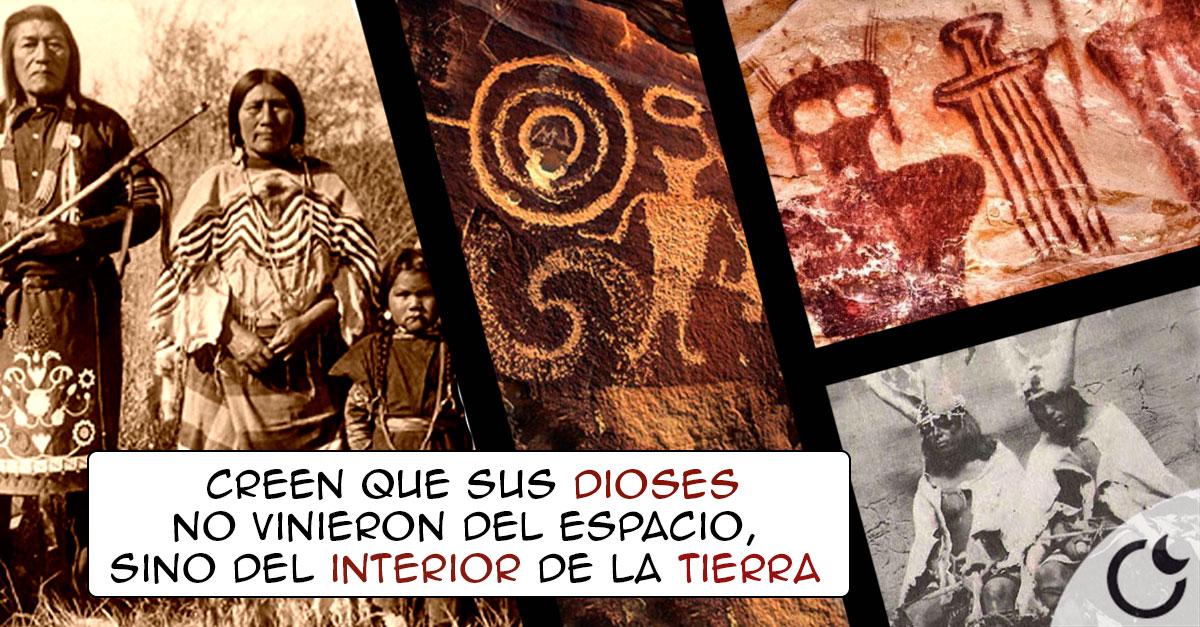 Hombres hormiga dentro de la tierra y sus escudos voladores: Los Hopi y su religión