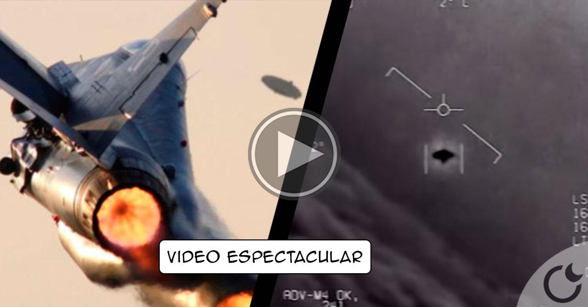 Piloto muestra vídeo de COMBATE con OVNI como nunca visto.