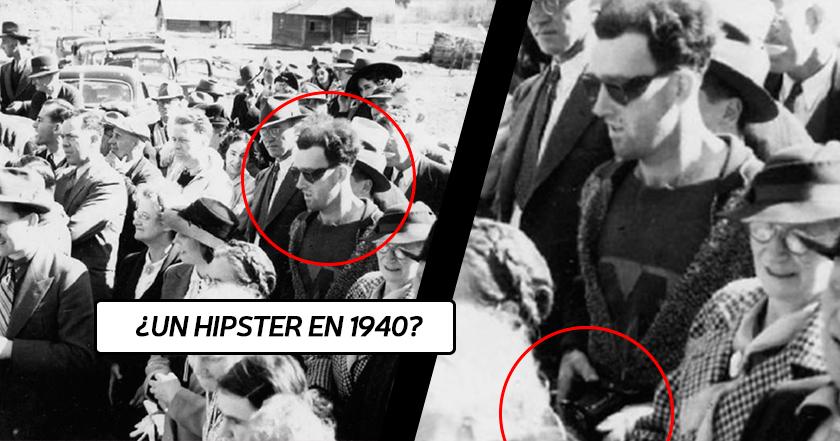 ¿Viajero del tiempo Hipster en plena II Guerra Mundial? (1940). Aquí toda la verdad