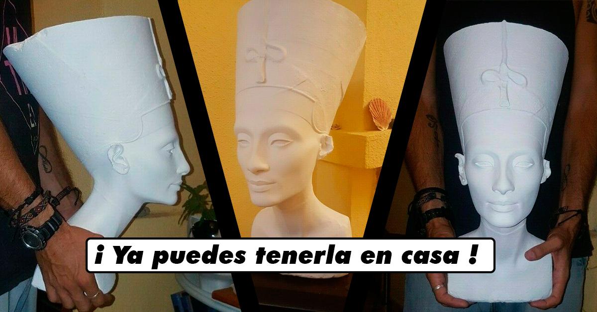 Ya puedes adquirir en primicia mundial el «Busto de Nefertiti» a tamaño real